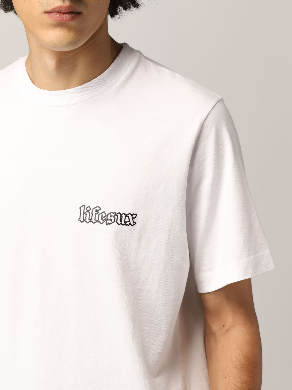 T-shirt Life Sux: T-shirt men Life Sux white 4