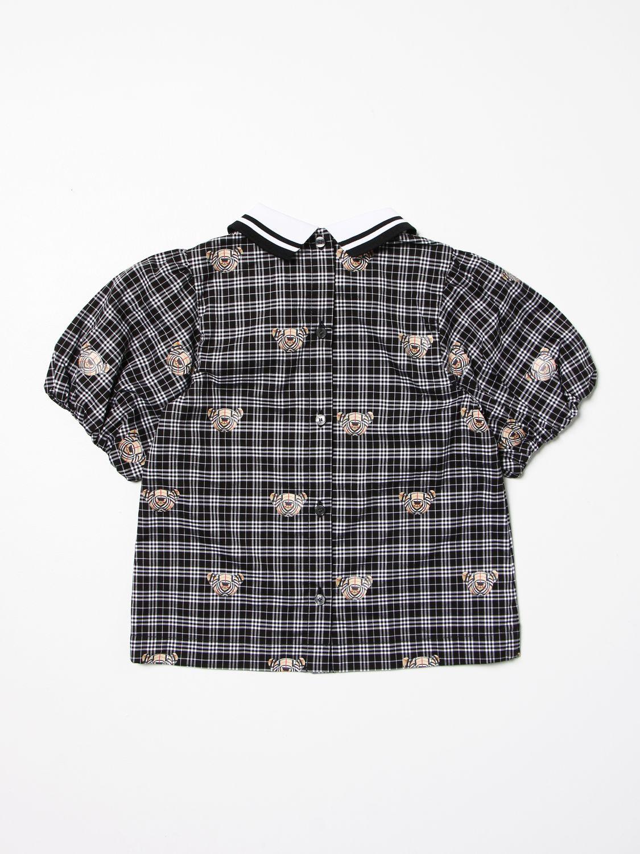 Shirt Burberry: Burberry checked cotton shirt with Thomas bear print black 2