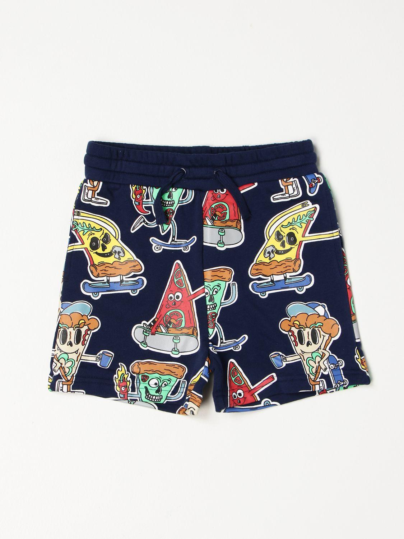 Shorts Stella Mccartney: Stella McCartney happy pizza jogging shorts blue 1
