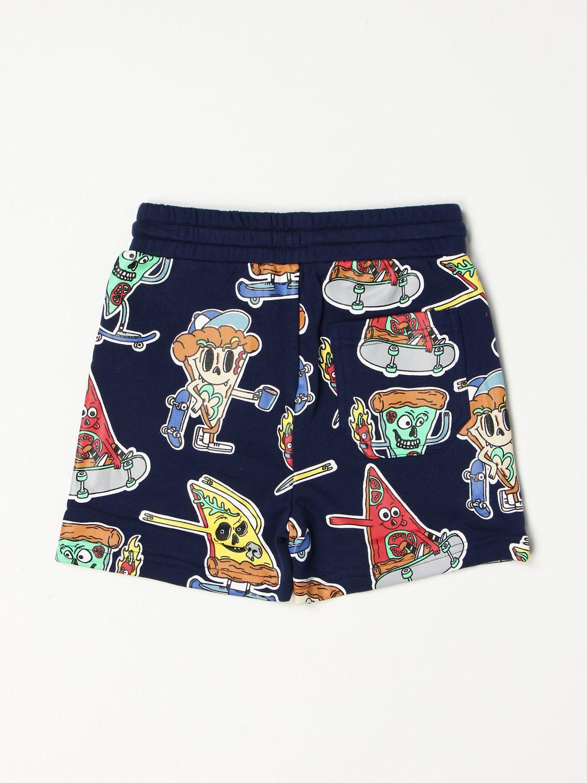 Shorts Stella Mccartney: Stella McCartney happy pizza jogging shorts blue 2