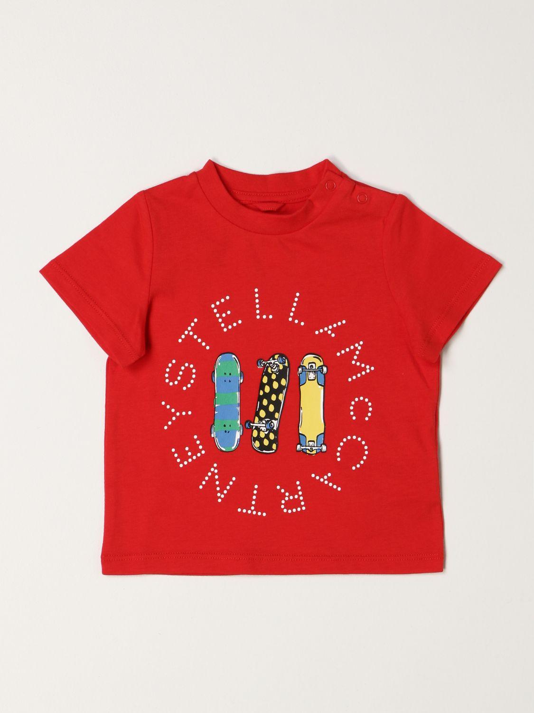 T-shirt Stella Mccartney: Stella McCartney Skateboard T-shirt in cotton red 1