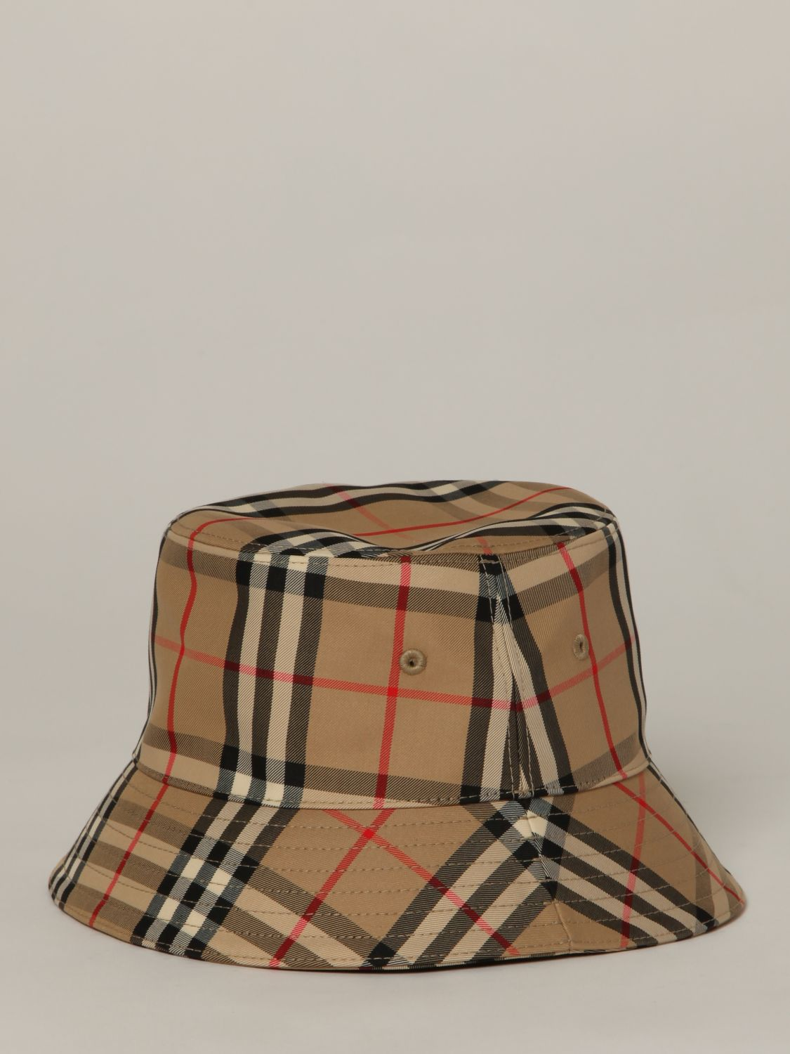 Hat Burberry: Burberry fisherman's hat in check canvas beige 2