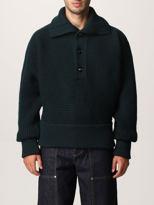 Sweater Bottega Veneta: Bottega Veneta sweater in shetland wool green 1
