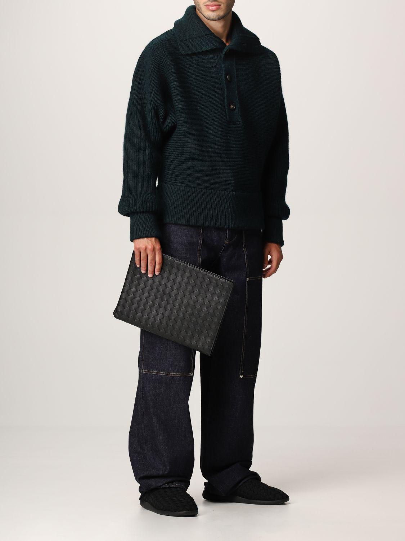 Sweater Bottega Veneta: Bottega Veneta sweater in shetland wool green 2
