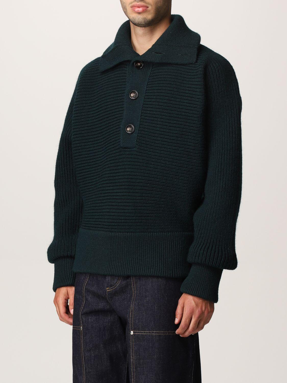 Sweater Bottega Veneta: Bottega Veneta sweater in shetland wool green 4