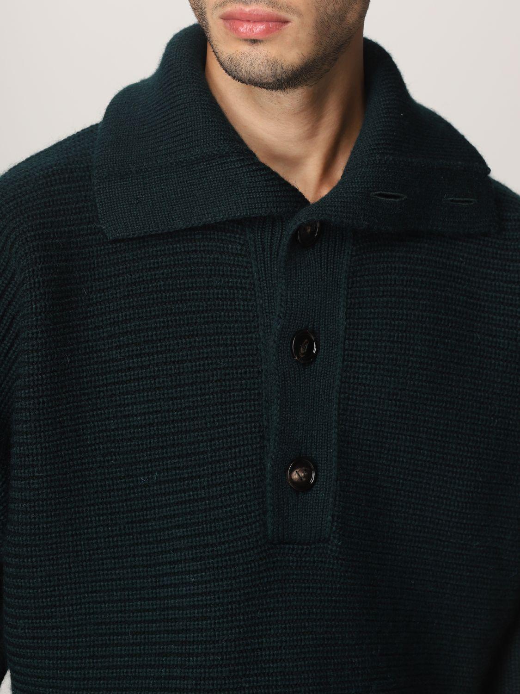 Sweater Bottega Veneta: Bottega Veneta sweater in shetland wool green 5