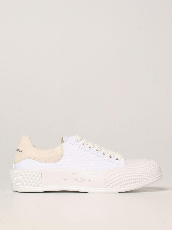 Sneakers Alexander Mcqueen: Alexander McQueen sneakers in canvas white 1