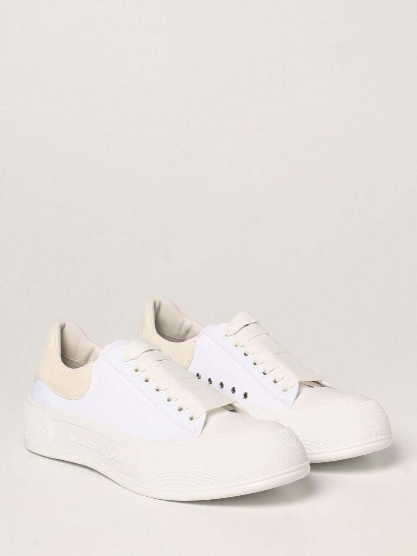 Sneakers Alexander Mcqueen: Alexander McQueen sneakers in canvas white 2
