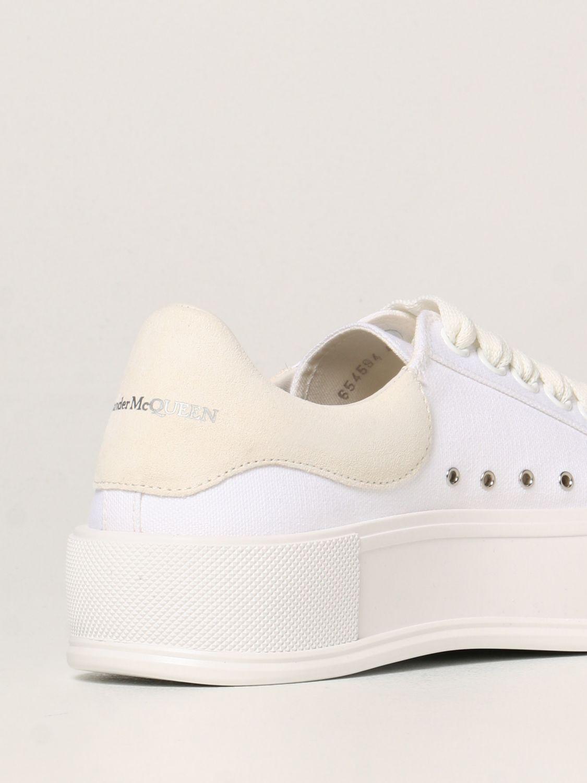 Sneakers Alexander Mcqueen: Alexander McQueen sneakers in canvas white 3