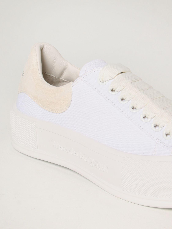 Sneakers Alexander Mcqueen: Alexander McQueen sneakers in canvas white 4
