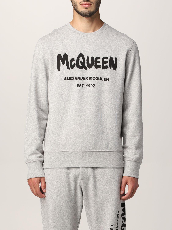 Sweatshirt Alexander Mcqueen: Alexander McQueen sweatshirt with graffiti logo print grey 1