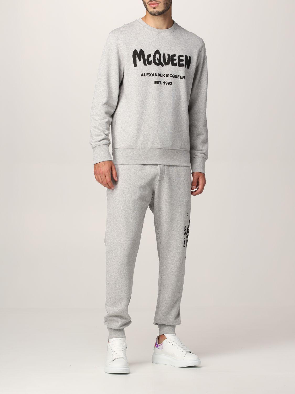 Sweatshirt Alexander Mcqueen: Alexander McQueen sweatshirt with graffiti logo print grey 2