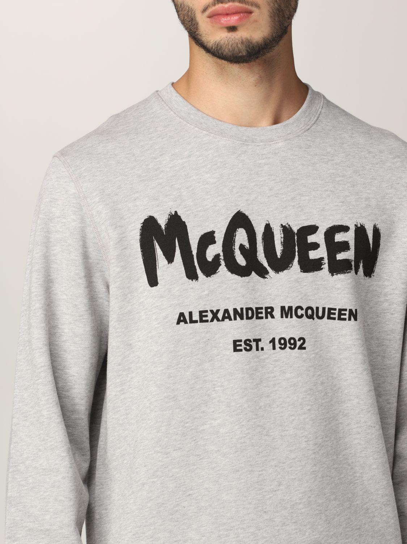 Sweatshirt Alexander Mcqueen: Alexander McQueen sweatshirt with graffiti logo print grey 5