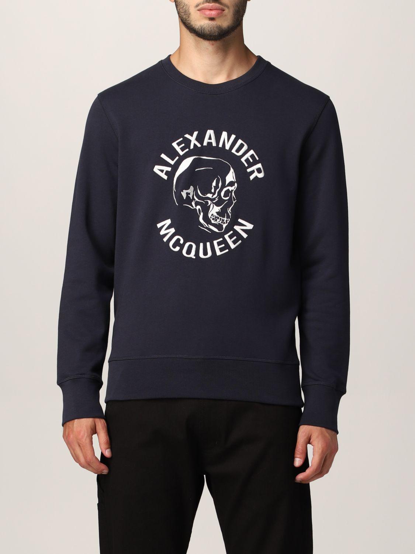 Sweatshirt Alexander Mcqueen: Alexander McQueen sweatshirt with embroidered skull navy 1