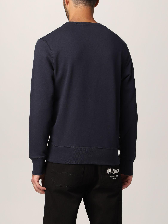 Sweatshirt Alexander Mcqueen: Alexander McQueen sweatshirt with embroidered skull navy 3
