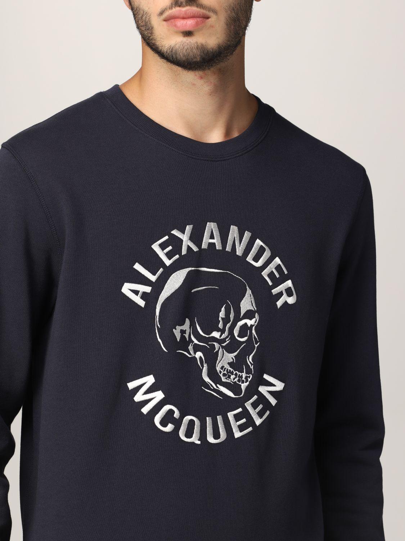 Sweatshirt Alexander Mcqueen: Alexander McQueen sweatshirt with embroidered skull navy 5