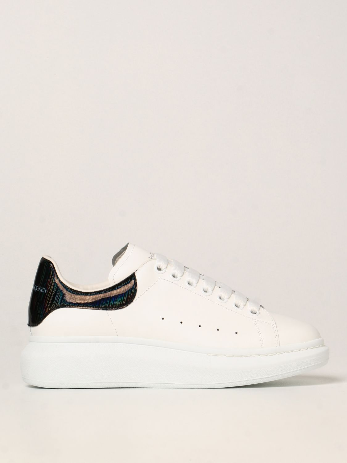 Trainers Alexander Mcqueen: Larry Alexander McQueen trainers in leather white 1
