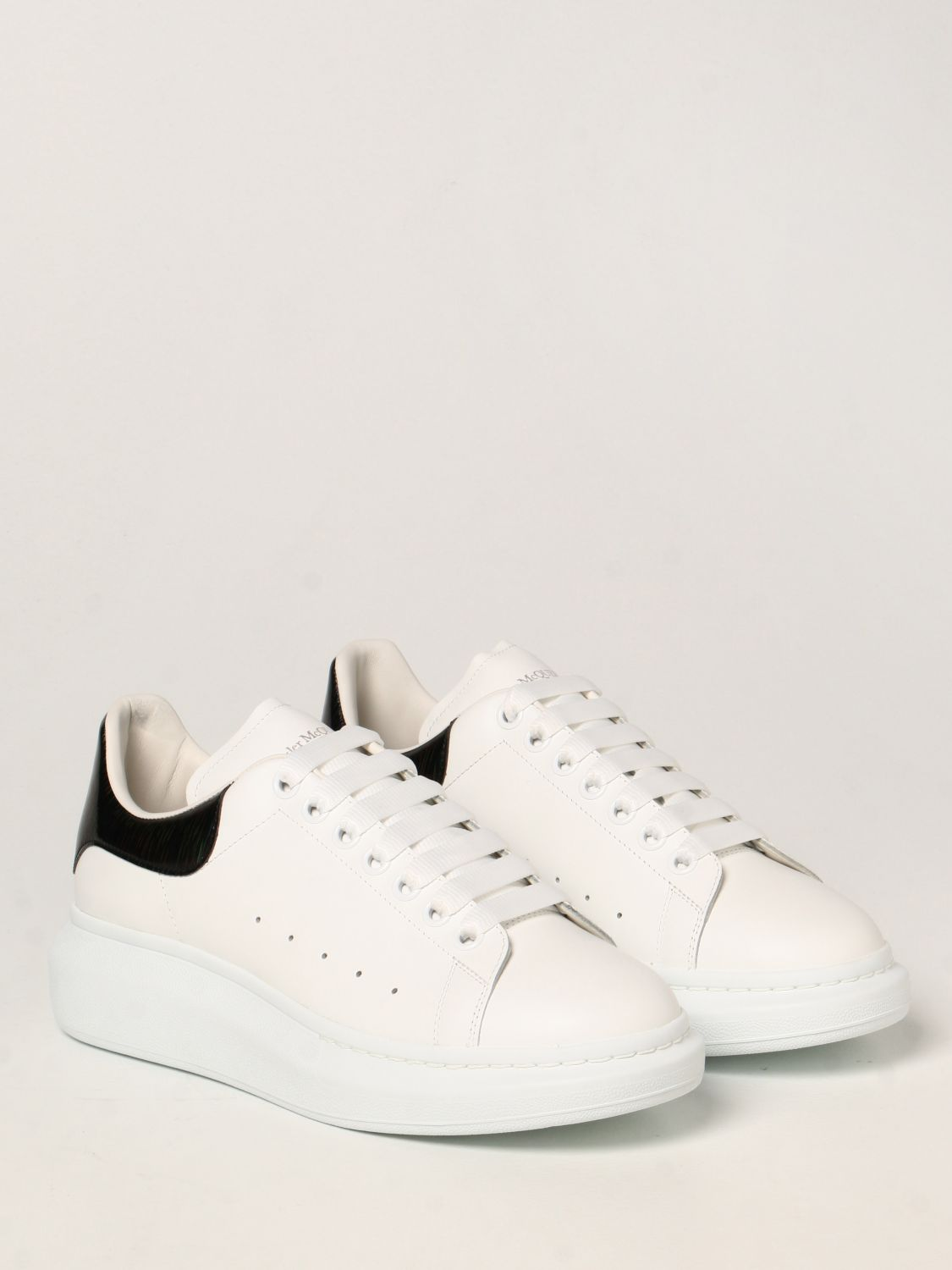Trainers Alexander Mcqueen: Larry Alexander McQueen trainers in leather white 2