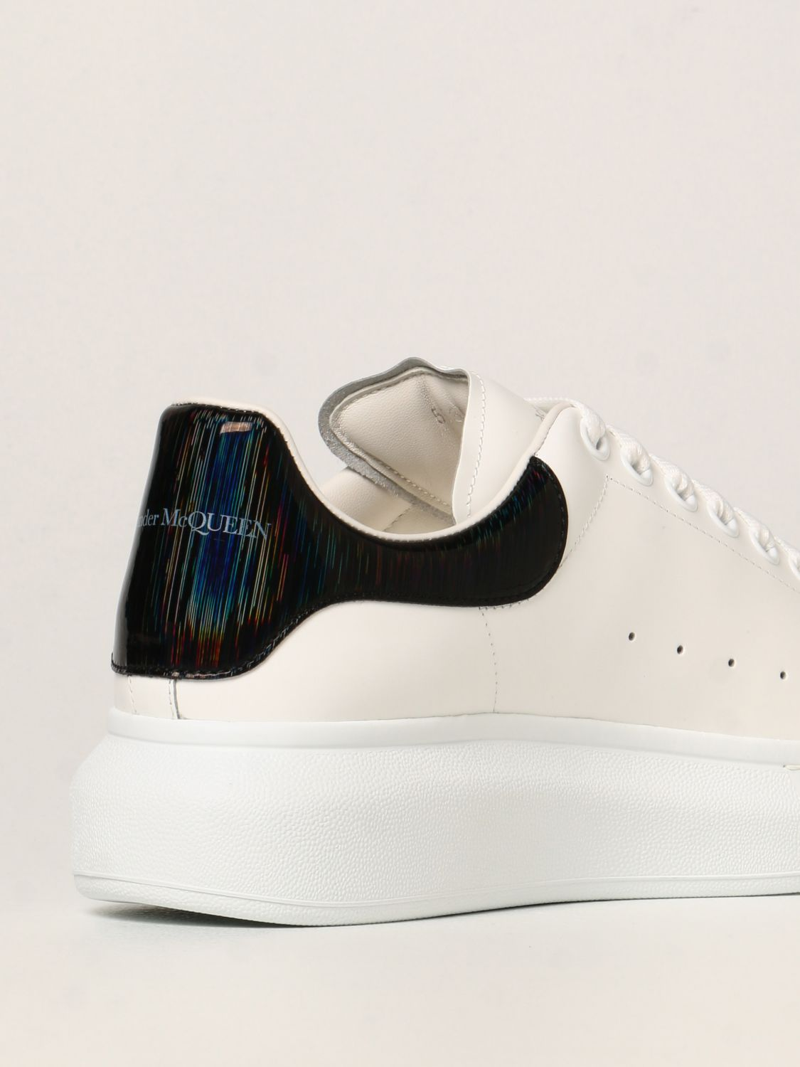 Trainers Alexander Mcqueen: Larry Alexander McQueen trainers in leather white 3
