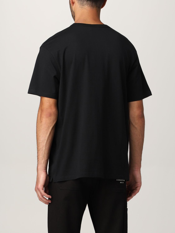 T-shirt Alexander Mcqueen: T-shirt Alexander McQueen con stampa scheletro nero 3