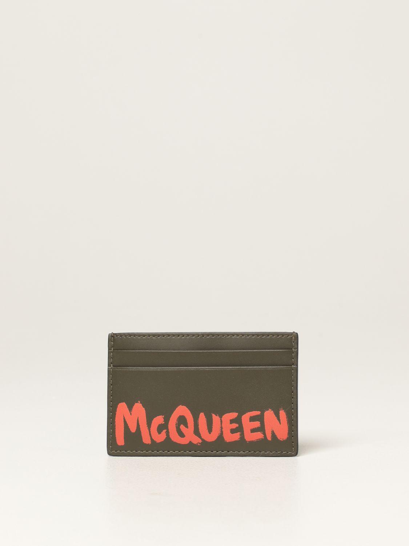 Wallet Alexander Mcqueen: Wallet men Alexander Mcqueen kaki 1
