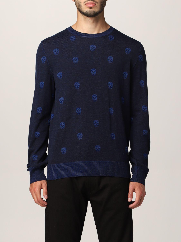 Sweater Alexander Mcqueen: Alexander McQueen sweater with all-over skull navy 1