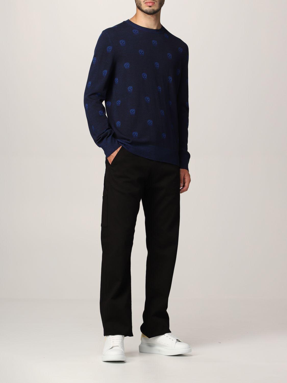 Sweater Alexander Mcqueen: Alexander McQueen sweater with all-over skull navy 2