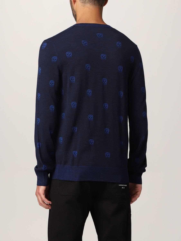 Sweater Alexander Mcqueen: Alexander McQueen sweater with all-over skull navy 3