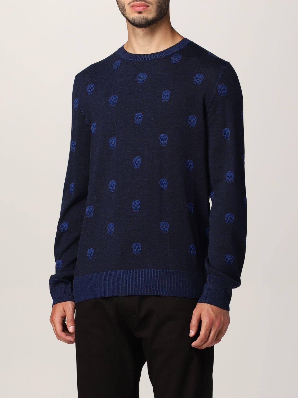 Sweater Alexander Mcqueen: Alexander McQueen sweater with all-over skull navy 4