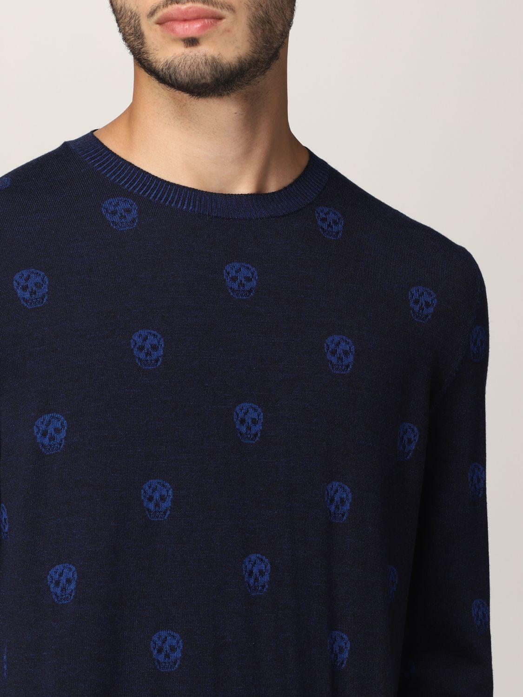 Sweater Alexander Mcqueen: Alexander McQueen sweater with all-over skull navy 5