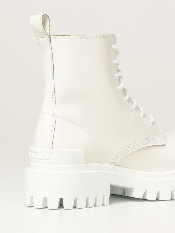 Stivaletti Balenciaga: Stivaletto Strike Balenciaga in pelle bianco 3