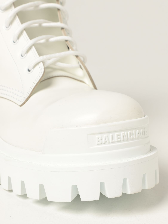 Stivaletti Balenciaga: Stivaletto Strike Balenciaga in pelle bianco 4