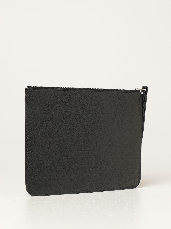 Wallet Balenciaga: Balenciaga clutch bag in hammered leather with logo white 3