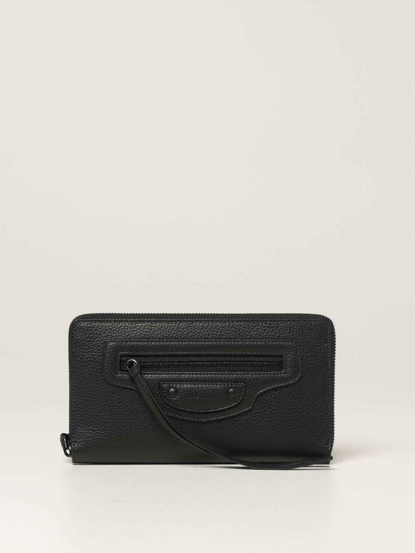 Portafoglio Balenciaga: Portafoglio Neo Classic Balenciaga in pelle martellata nero 1