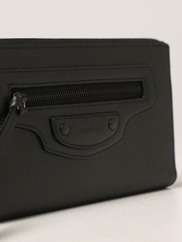 Portafoglio Balenciaga: Portafoglio Neo Classic Balenciaga in pelle martellata nero 4