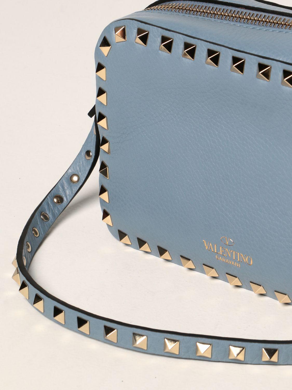 Borse a tracolla Valentino Garavani: Borsa a tracolla Rockstud Valentino Garavani in pelle azzurro 3