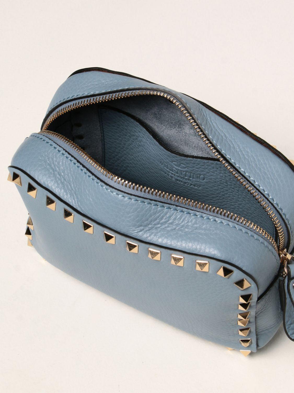 Borse a tracolla Valentino Garavani: Borsa a tracolla Rockstud Valentino Garavani in pelle azzurro 4