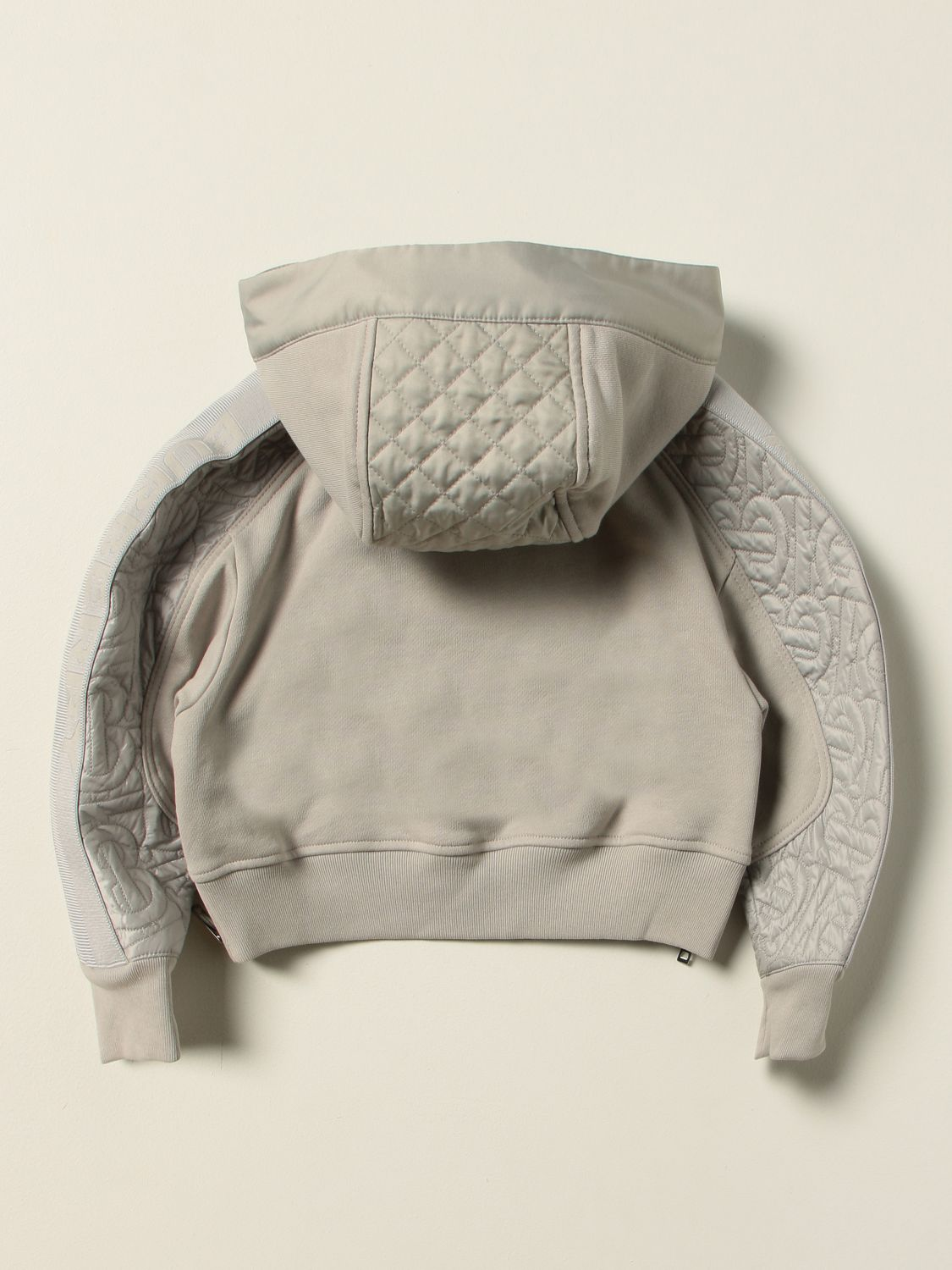 Jumper Burberry: Burberry cotton jersey jumper with quilted panels grey 1 2