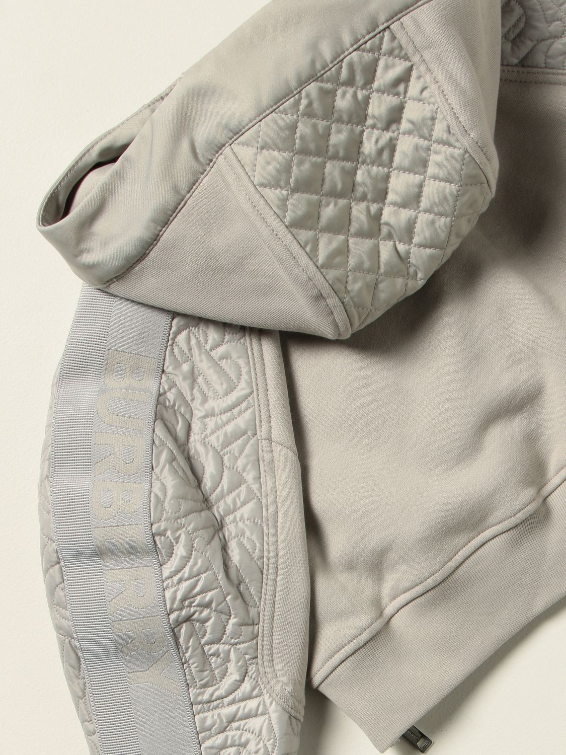 Jumper Burberry: Burberry cotton jersey jumper with quilted panels grey 1 3