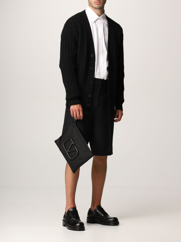 Cardigan Valentino: Cardigan Valentino in lana vergine con logo VLTN nero 2