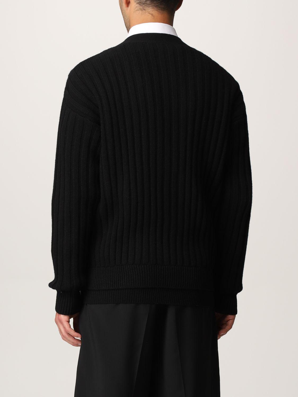 Cardigan Valentino: Cardigan Valentino in lana vergine con logo VLTN nero 3