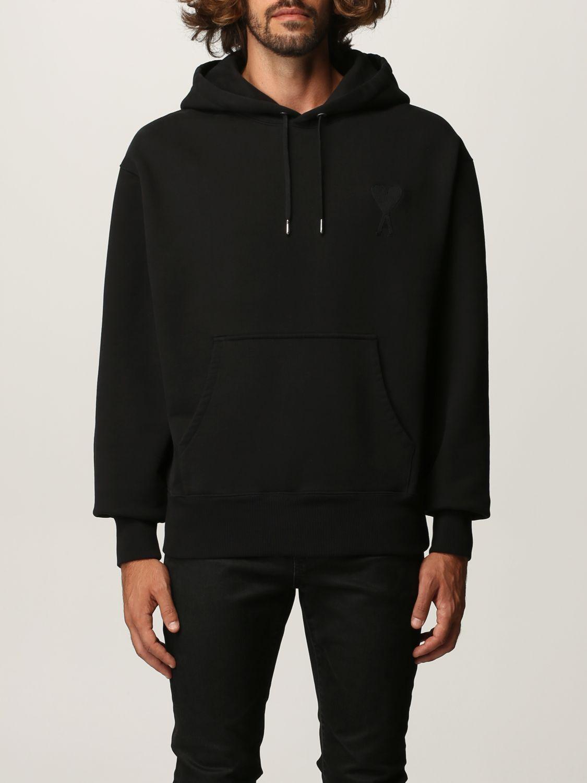 Sweatshirt Ami Alexandre Mattiussi: Sweatshirt men Ami Alexandre Mattiussi black 1
