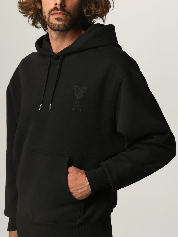 Sweatshirt Ami Alexandre Mattiussi: Sweatshirt men Ami Alexandre Mattiussi black 4