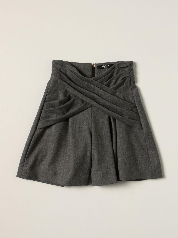 Short Balmain: Balmain shorts in virgin wool grey 1