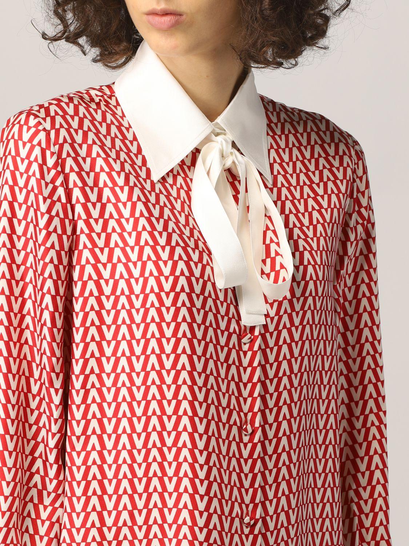 Camicia Valentino: Camicia Valentino in seta con stampa optical rosso 5