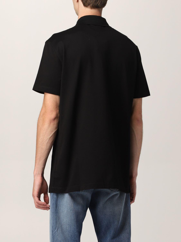T-shirt Versace: Polo Versace in cotone piquet nero 3