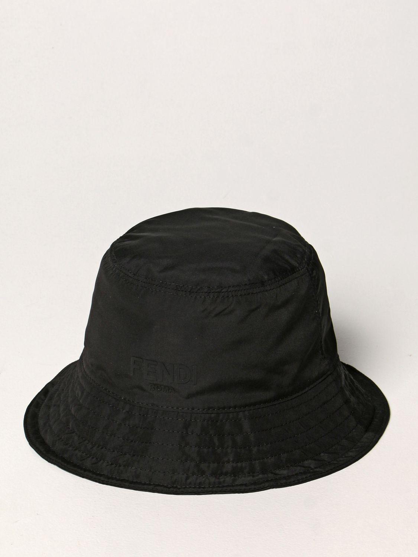 Chapeau Fendi: Chapeau enfant Fendi noir 1