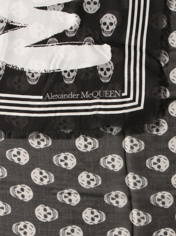 Sciarpa Alexander Mcqueen: Foulard Alexander McQueen in modal bianco 3