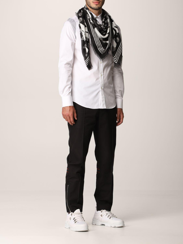 Sciarpa Alexander Mcqueen: Foulard Alexander McQueen in modal bianco 4
