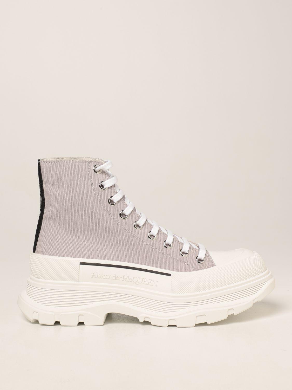 Boots Alexander Mcqueen: Alexander McQueen ankle boot in canvas grey 1